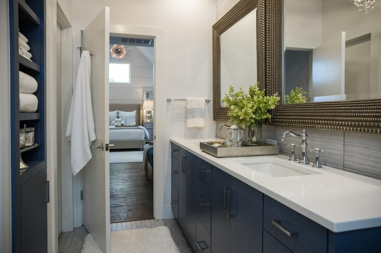 Pictures Of The Hgtv Smart Home 2015 Master Bathroom  Neutral Gorgeous Open Bathroom Bedroom Design Design Ideas