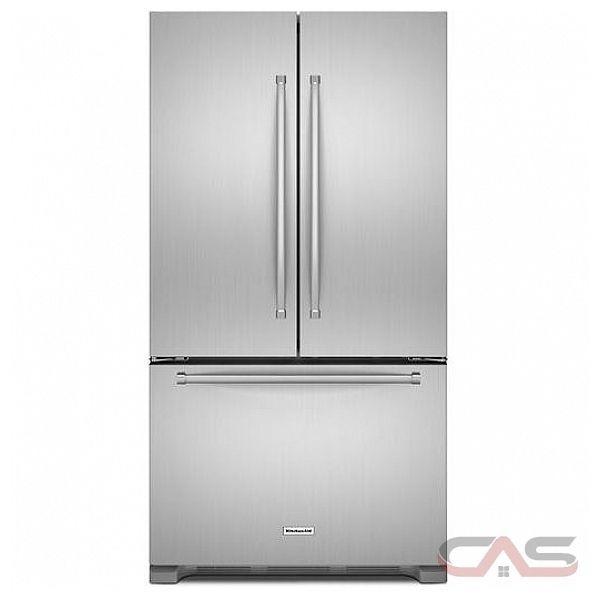 Kitchenaid Krff305ess French Door Refrigerator 36 Width Freezer
