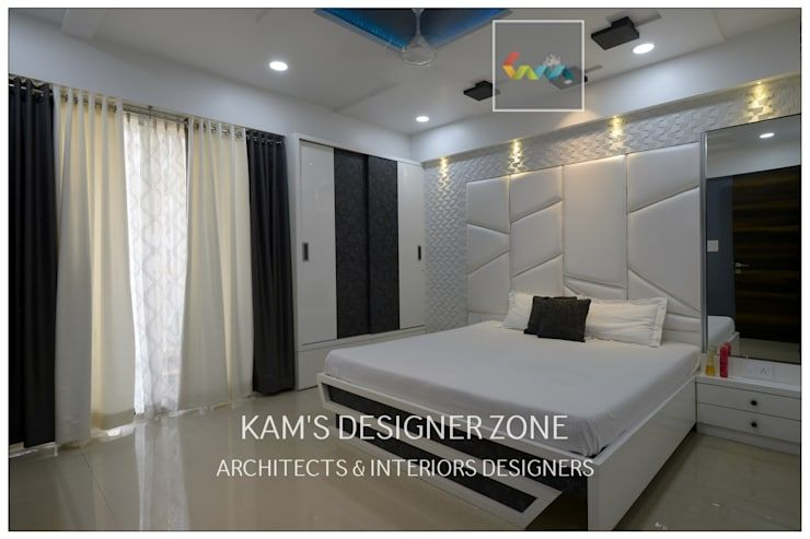 Flat Interior Design For PINKY AGARWAL: Modern Bedroom By KAMu0027S DESIGNER  ZONE