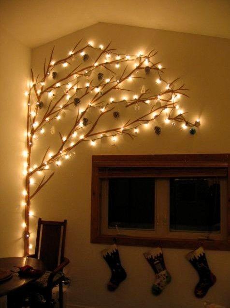 Cute Christmas Tree Wall Lights Wall Christmas Tree Cork Christmas Trees Ledge Decor