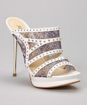 Another great find on #zulily! White Zabrina Stiletto Sandal by A.B.S. by Allen Schwartz #zulilyfinds