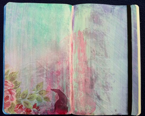 Art Journaling – napkin decoupage | perfectly4med: Artist at work