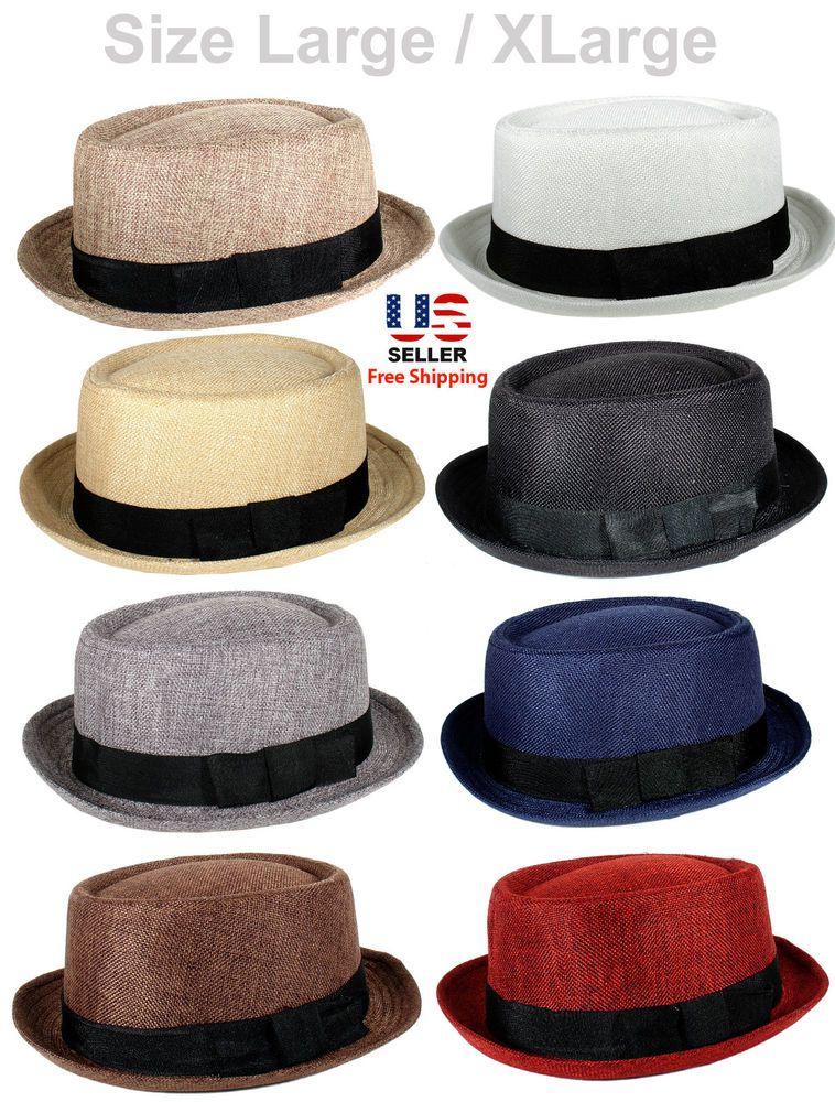 FABRIC PORK PIE PORKPIE FEDORA UPTURN SHORT BRIM CAP HAT CAP LARGE   XLARGE   PorkPie f347e7039d8