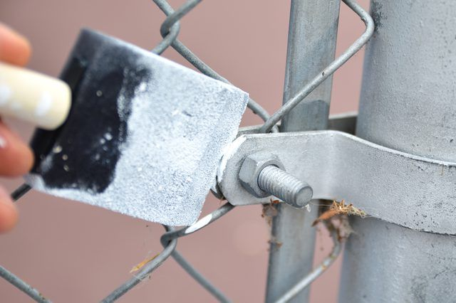 Painting A Chain Link Fence Painted Chain Link Fence Chain Link Fence Chain Link Fence Gate