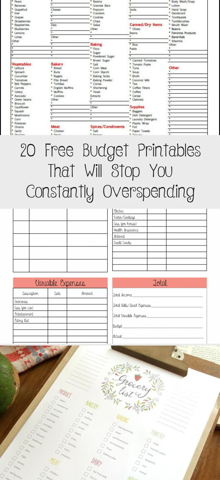 20 Free Budget Printables That Will Stop You Constantly