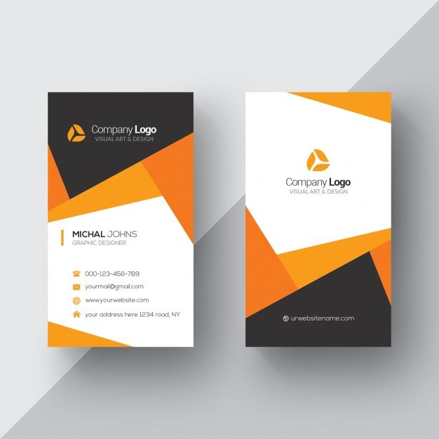 Download Orange And White Business Card For Free Simple Business Cards Visiting Card Templates Business Card Template Design
