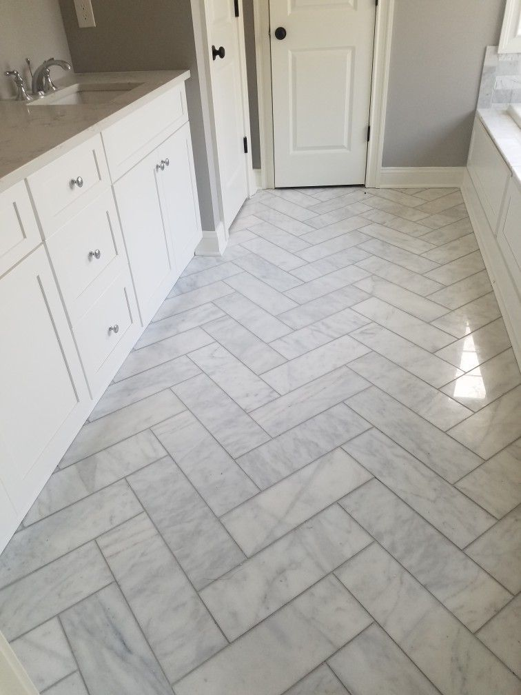 Carrera Marble Bathroom Tile Floor Bathroomremodelvirginiabeach Marble Tile Bathroom Marble Tile Bathroom Floor Marble Bathroom Floor