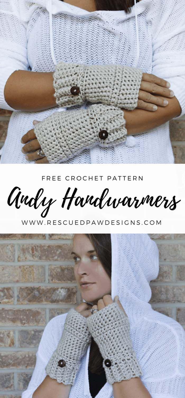 Simple Crochet Hand Warmer Pattern   Guantes, Mitones y Guantes sin ...