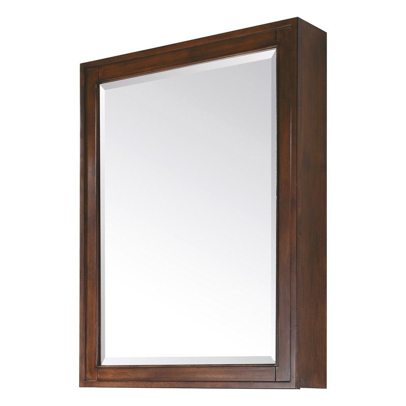 Chesterville Surface Mount Framed 1 Door Medicine Cabinet With 3 Shelves Mirror Cabinets Medicine Cabinet Mirror Beveled Mirror