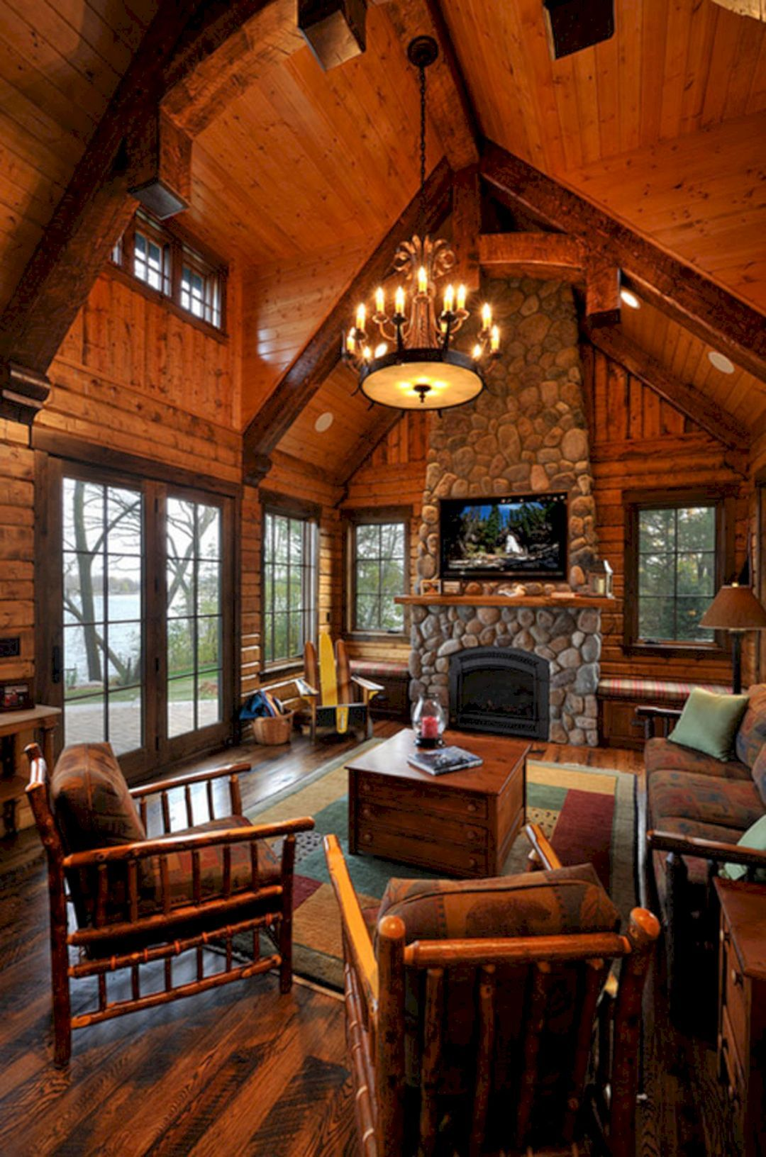 Rustic Cabin Style Living Rooms Ideas