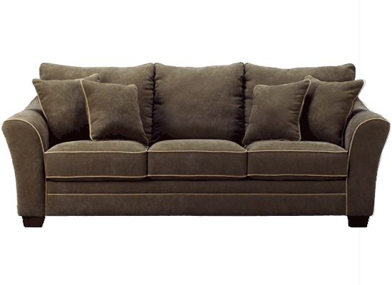 Ashley Furniture With Durapella Basketweave Olive Sofa