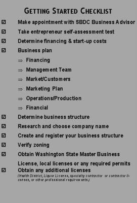Helping Small Business In Spokane Wa Checklist For Starting A