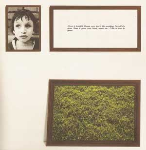 """An extract from Sophie Calle's project 'The Blind', from 1986, wherein blind people were asked to provide their definition of beauty. The above said:    """"Green is beautiful. Because every time I like something, I'm told it's green. Grass is green, trees, leaves, nature too… I like to dress in green."""""""
