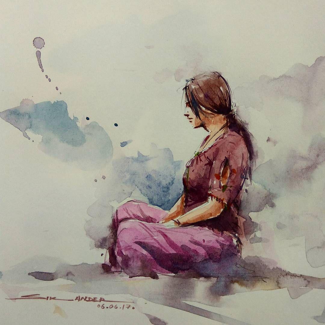 #figures #drawing #watercolorpainting #watercolor # ...