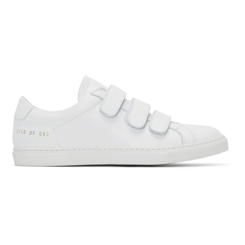 146e2a6e8fe02 Woman by Common Projects - White Achilles Three Strap Sneakers ...