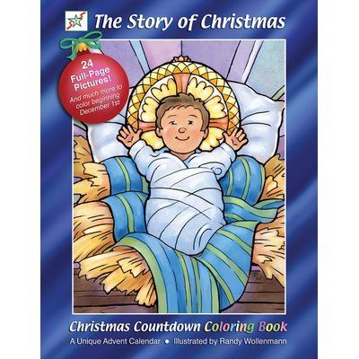 The Holiday Aisle The Story of Christmas Coloring Book Advent