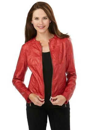 ce7a96fce074e Cato Fashions Leather Look Quilted Moto Jacket  CatoFashions