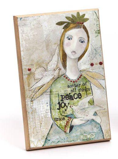 Angel Plaque-Seeker of All | Garden Gallery Iron Works