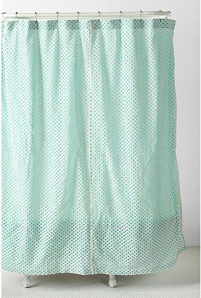 Aqua Eyelet Shower Curtain Urban Outfitters Please