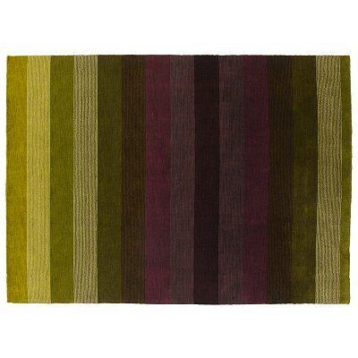 Sanderson Veluti Stripe Rugs, Lichen/Aubergine at John