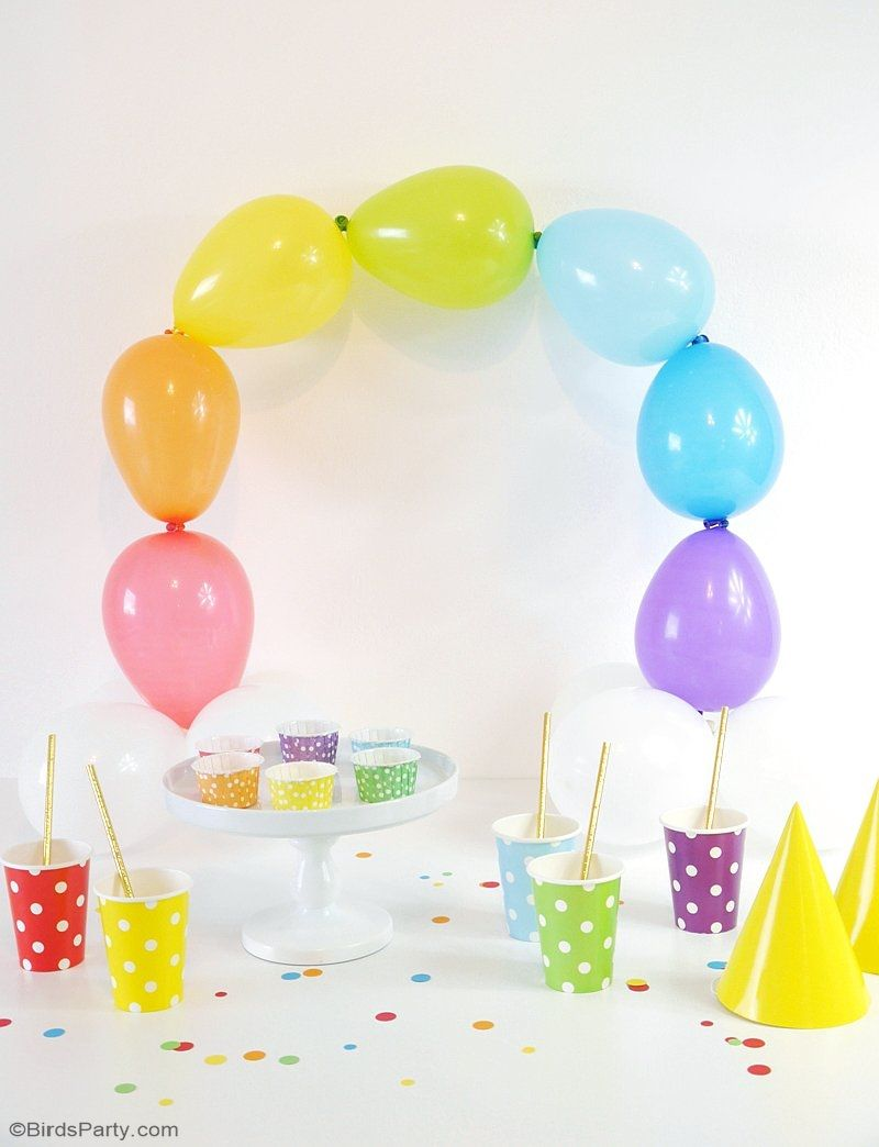 DIY Easy Rainbow Balloon Arch   Make This Party Decor For Your Saint  Patricku0027s Day Celebrations Or A Colorful Birthday Party, Without The Need  For Helium Or ...