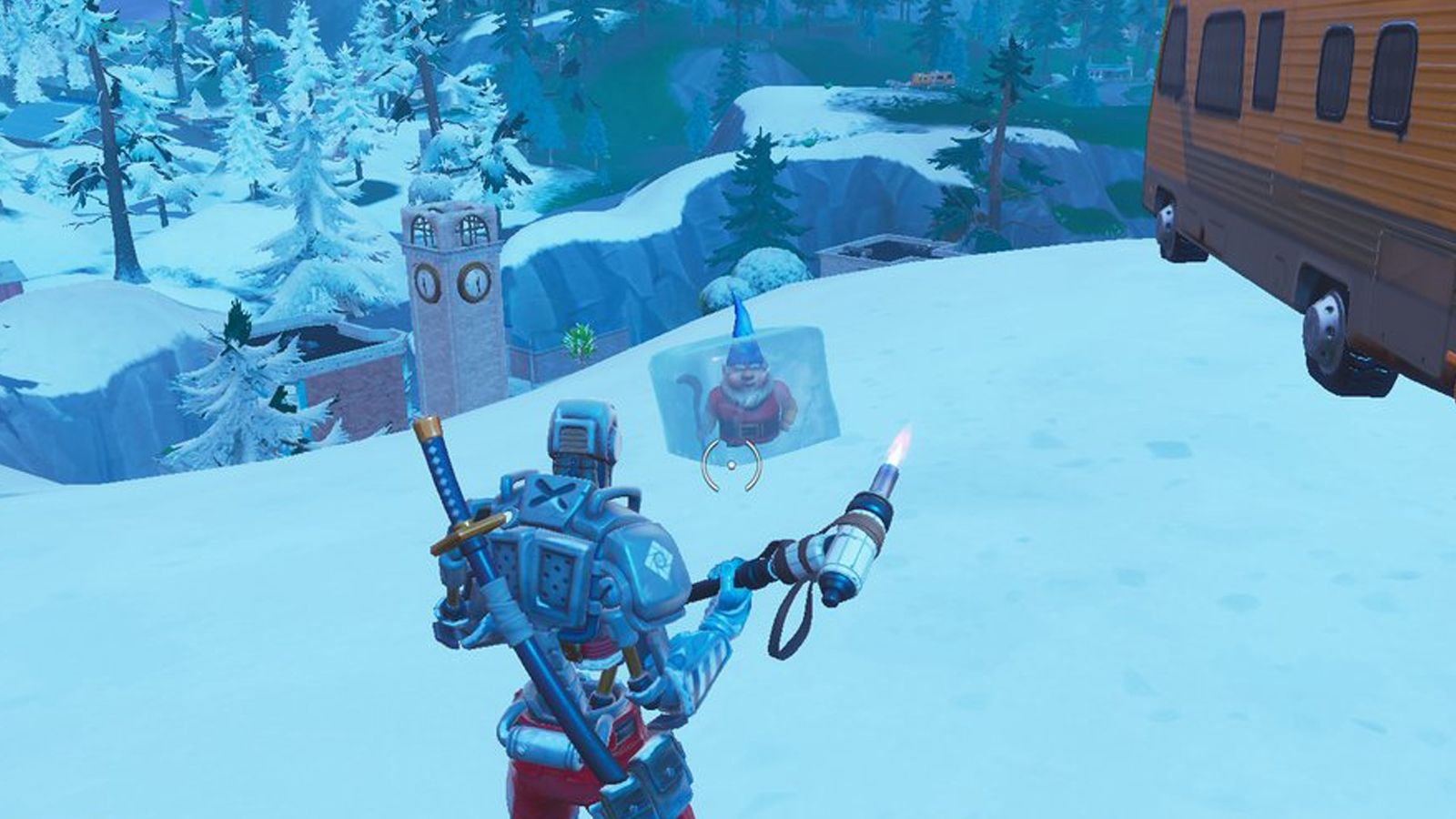 Locations And Guide For The Search Chilly Gnomes Fortnite Season 7