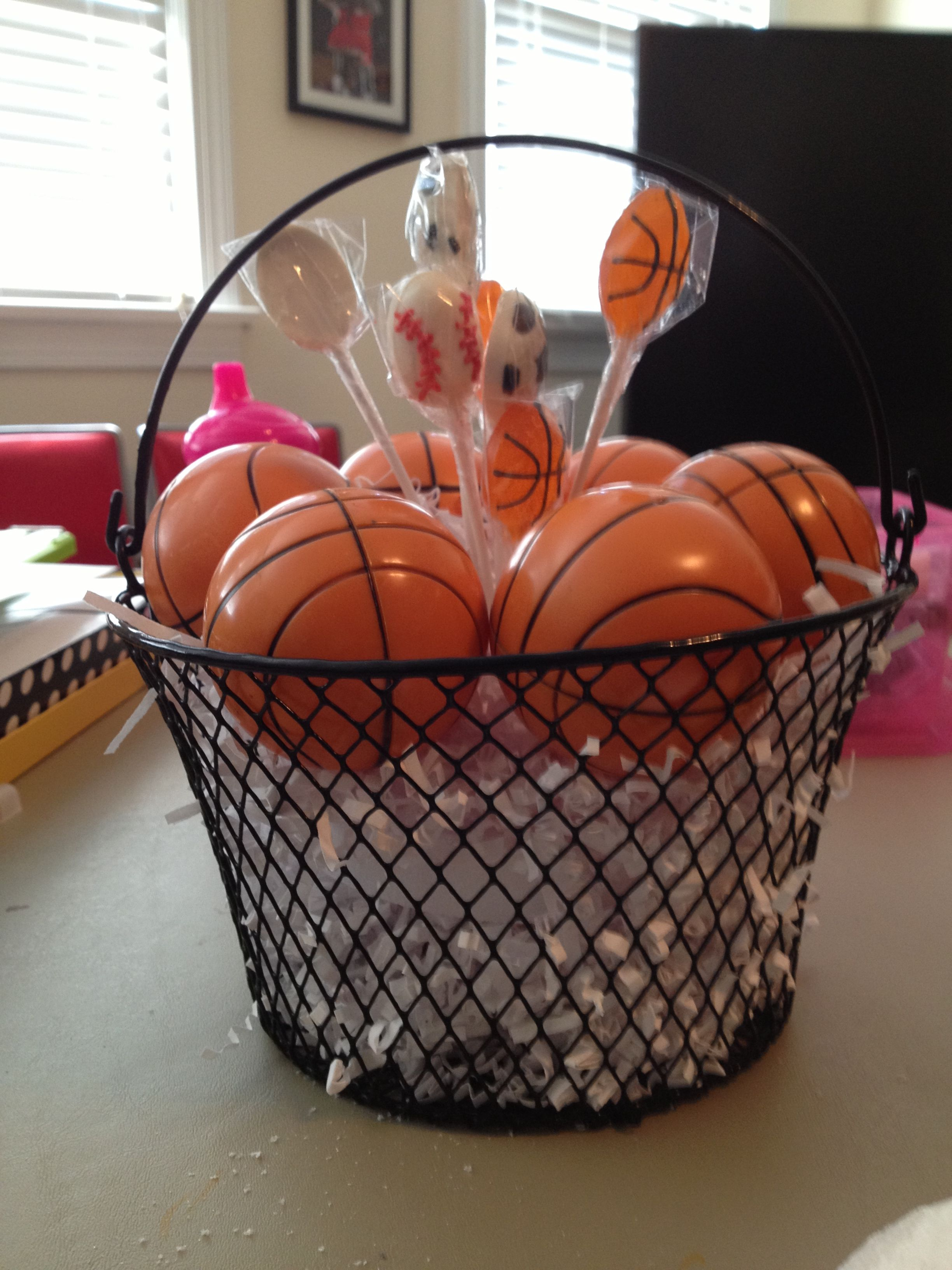 Found these cute baskets at the dollar tree and thought for Balloon nets for centerpieces