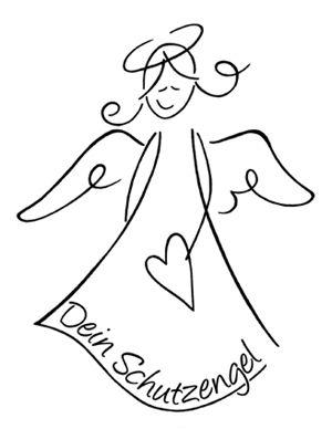 Holzstempel Dein Schutzengel Riscos Engel Zeichnen