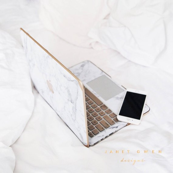lowest price 005cd 3f095 Gold Marble Cover for Macbook | Tech Accessories Mac Accessories ...