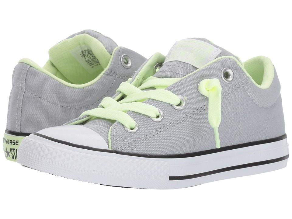 7abddc7b2eef Converse Kids Chuck Taylor All Star Street Slip (Little Kid) Kids Shoes Wolf  Grey Barely Volt White