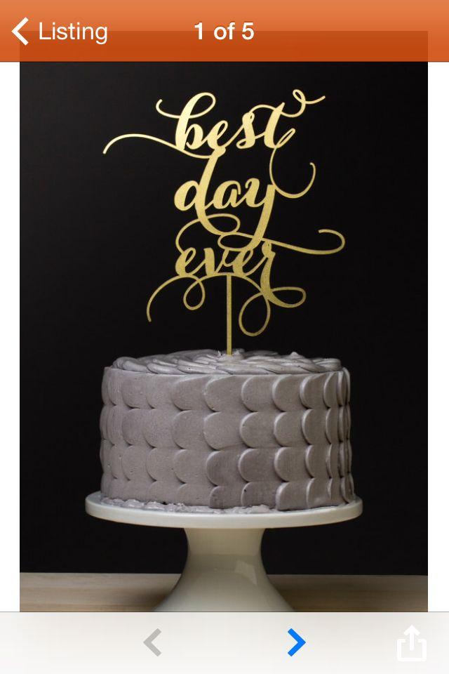 Best Topper Ever Better Off Wed Gold Cake Topper Wedding Wedding Cake Toppers Cake
