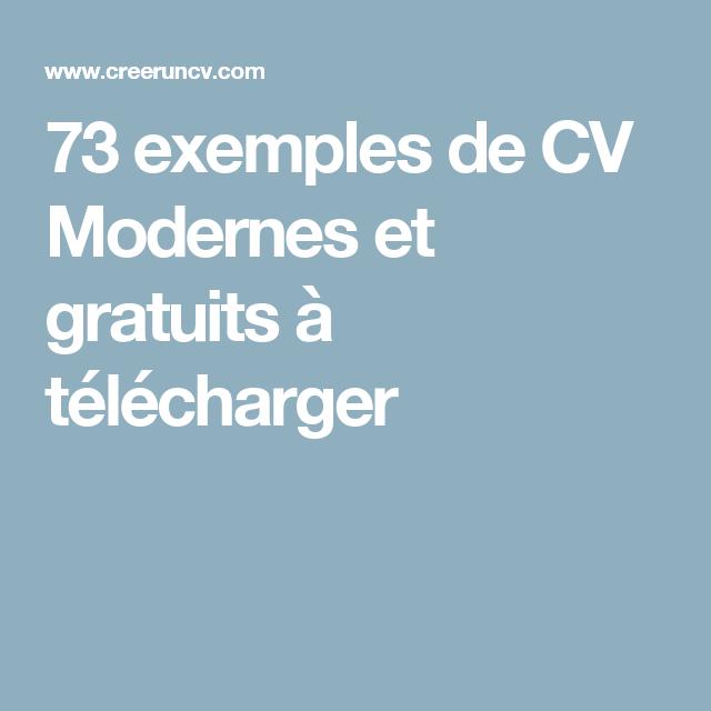 73 exemples de cv modernes et gratuits  u00e0 t u00e9l u00e9charger