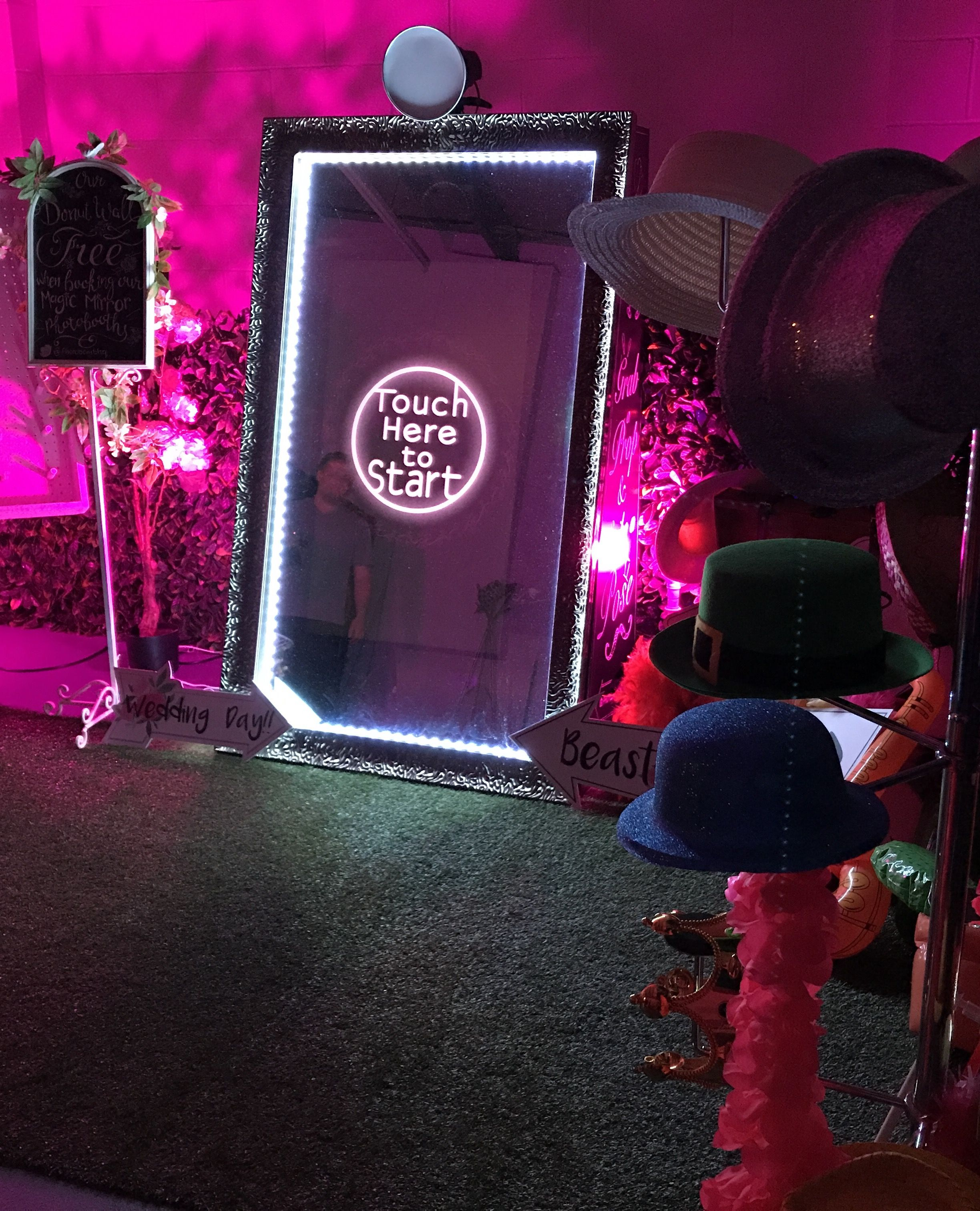 Hire our exciting and interactive magic mirror! So much fun and we bring all the props for you! Find us on Facebook @photobombhq #magicmirror #photobooth #personilsed #weddings #parties #entertainment #funevents