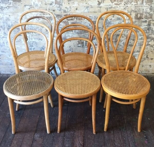 Bentwood Chair Chairs Vintage Antique Rattan Thonet No 14 French
