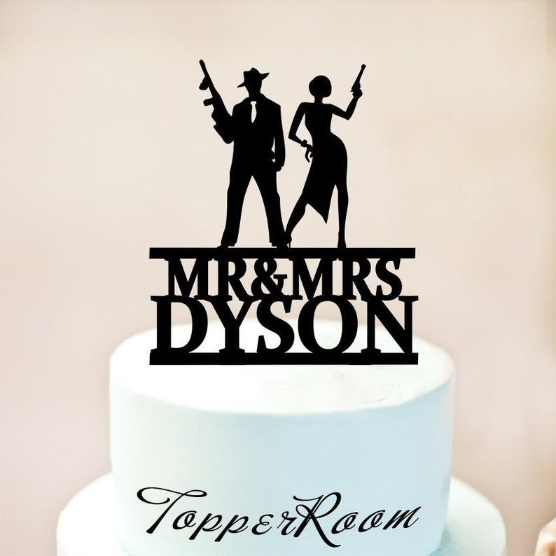 Couple On The Run 1950's luggage cake for a Bonnie & Clyde ...  |Bonnie And Clyde Cakes