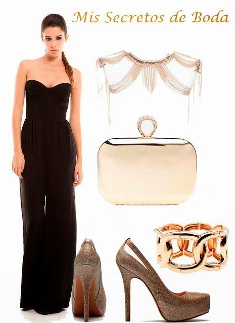 Accesorios vestido negro strapless