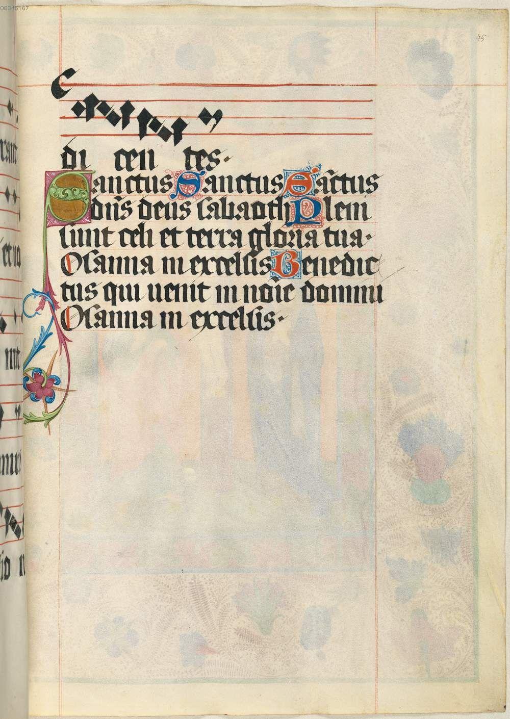 Missale quinque tomis constans, qui omnes multis (plus centum) et nitidissimis picturis ornati sunt (Bd. 4) Clm 15711 nach 1481 Folio 45