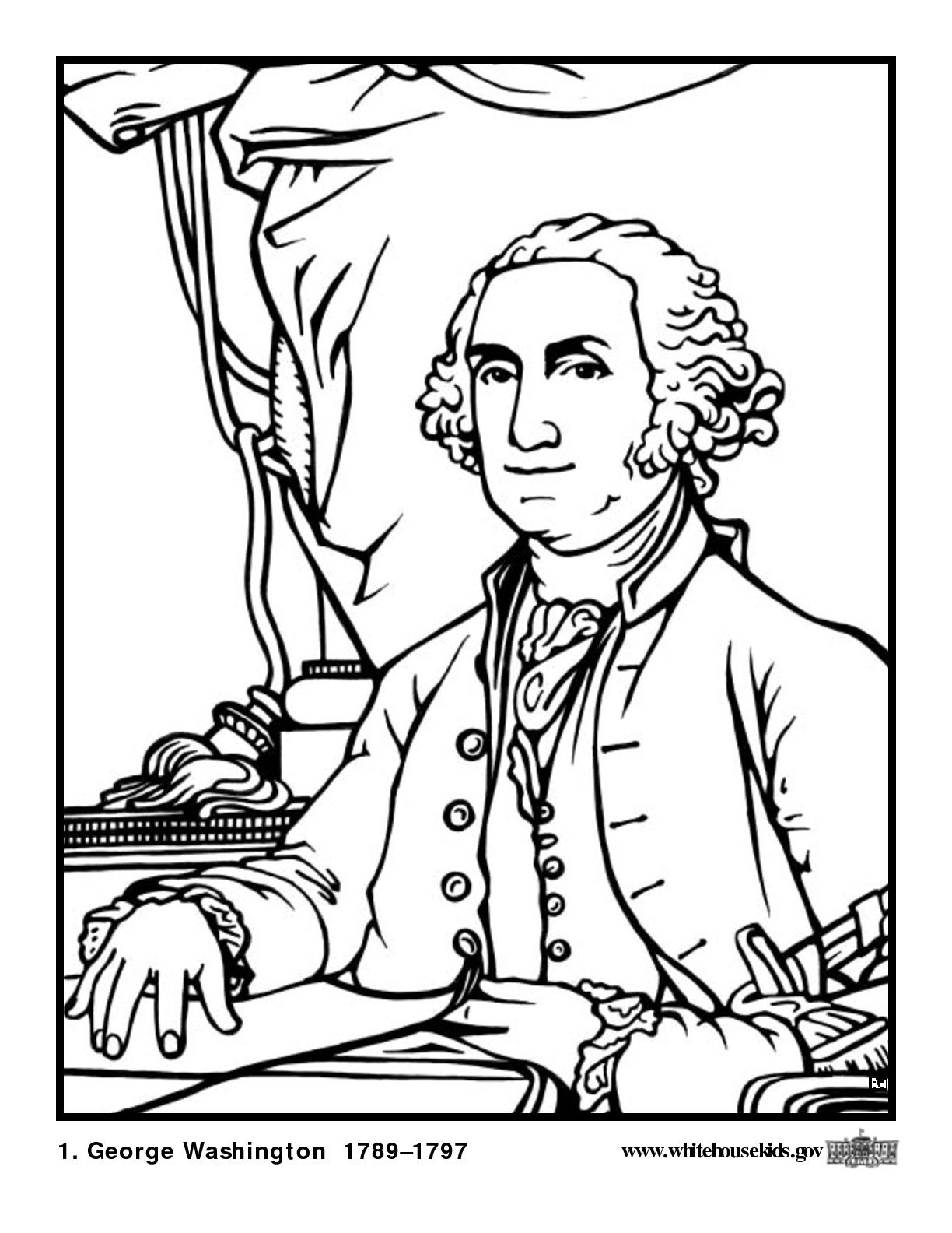 United states presidents coloring book from george washington to george bush
