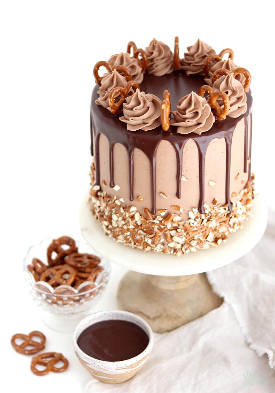 My Cafe Chocolate Cake With Hazelnuts : chocolate, hazelnuts, Sweet, Salty, Pretzel, Nutella, Recipe, Sugar, Sparrow, Cake,, Recipes