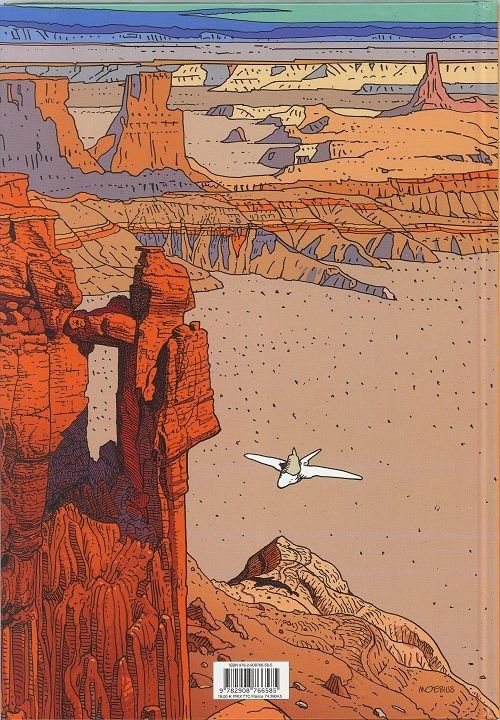"""Back cover illustration from """"Arzak: L'arpenteur"""" (""""Arzak: The Surveyor"""") (2010) by French artist/author Jean """"Moebius"""" Giraud"""