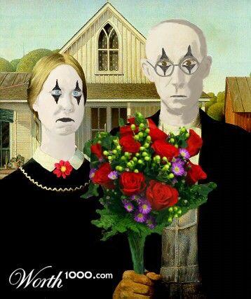 American Gothic American Gothic American Gothic Parody Art Parody