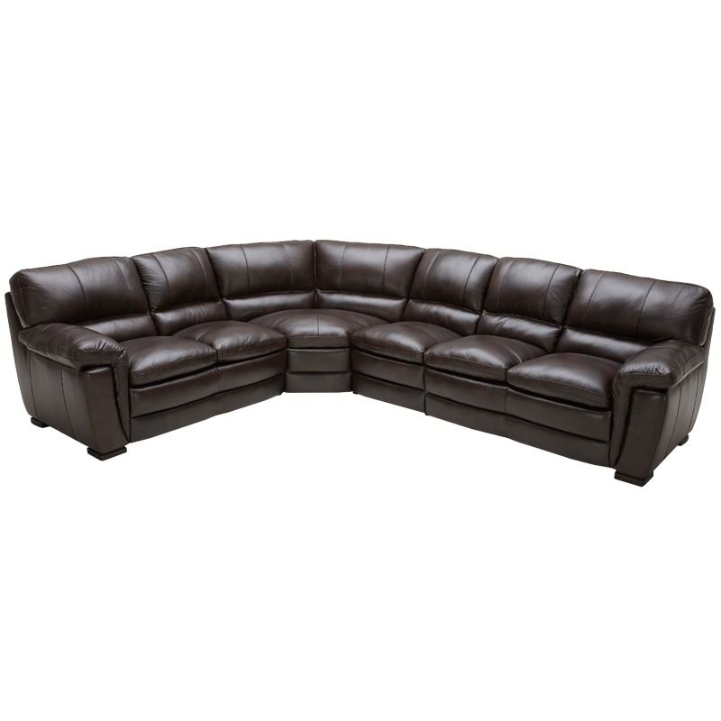 Kuka Franco All Leather Java Sectional | Weekends Only Furniture and Mattress  sc 1 st  Pinterest : weekends only sectionals - Sectionals, Sofas & Couches
