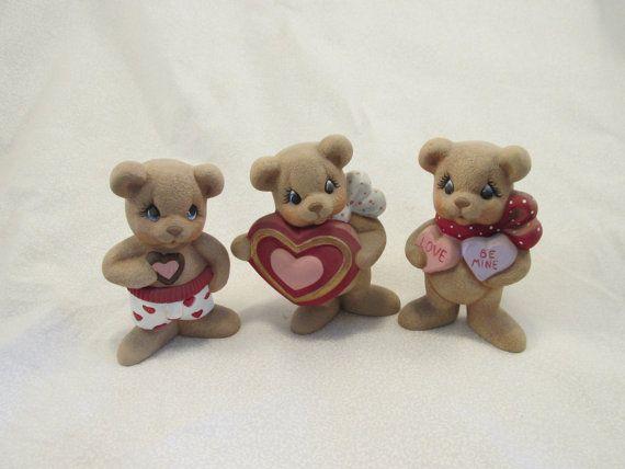 Ceramic Loving Valentine Bears Set of by GrapeVineCeramicsGft, $25.00