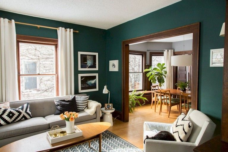 46 Amazing Mid Century Modern Living Room Decor Ideas Teal Living Rooms Living Room Decor Modern Mid Century Modern Living Room