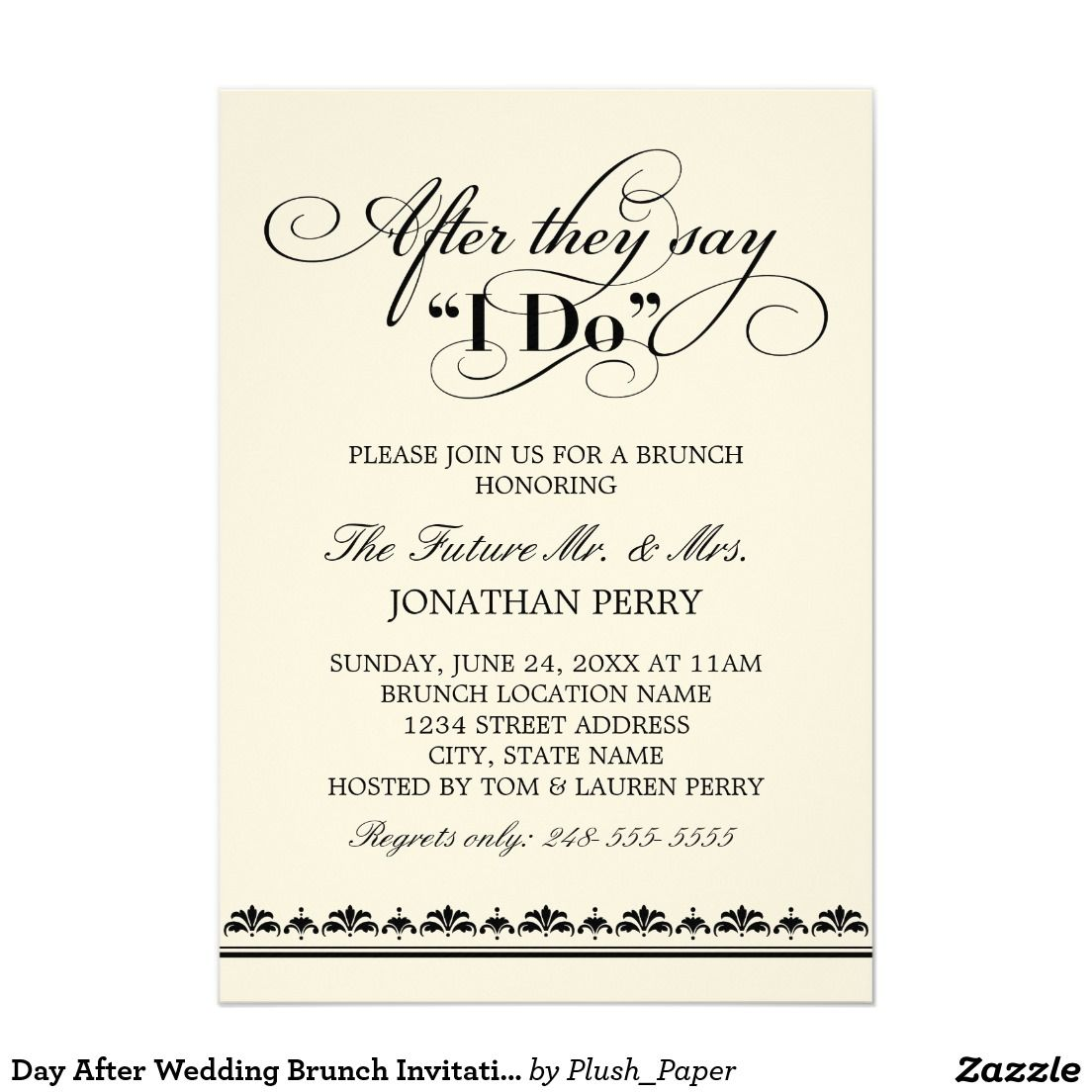 day after wedding brunch invitation wedding vows matt brunch