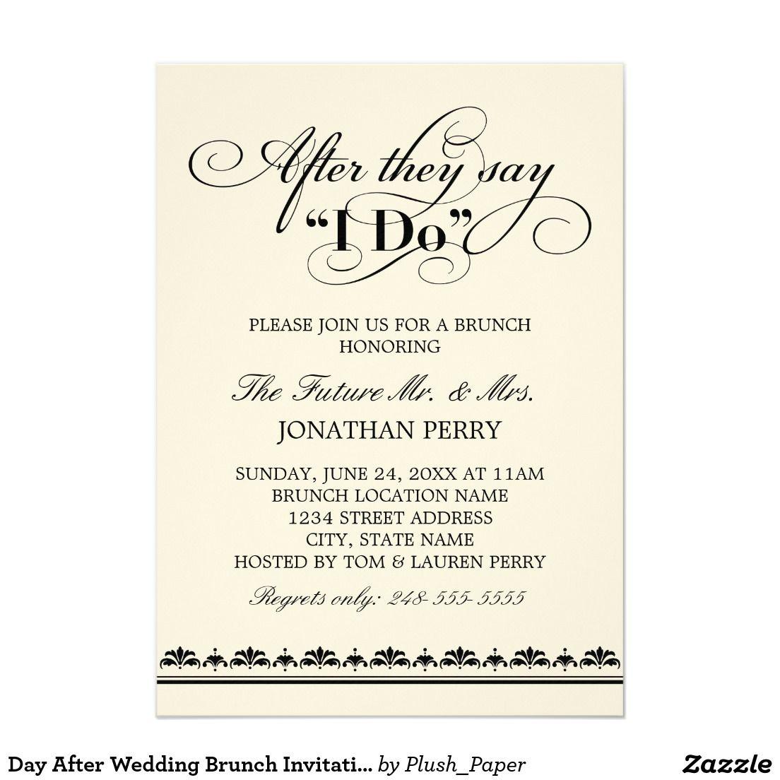 Day After Wedding Brunch Invitation | Wedding Vows | Matt Brunch ...