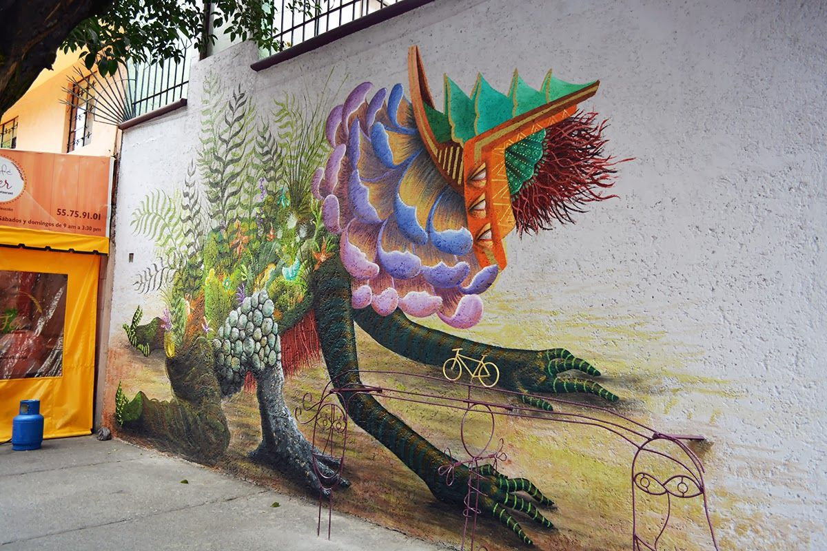Artist : Curiot. Place : Mexico City. #streeart, #graffiti, #urban.