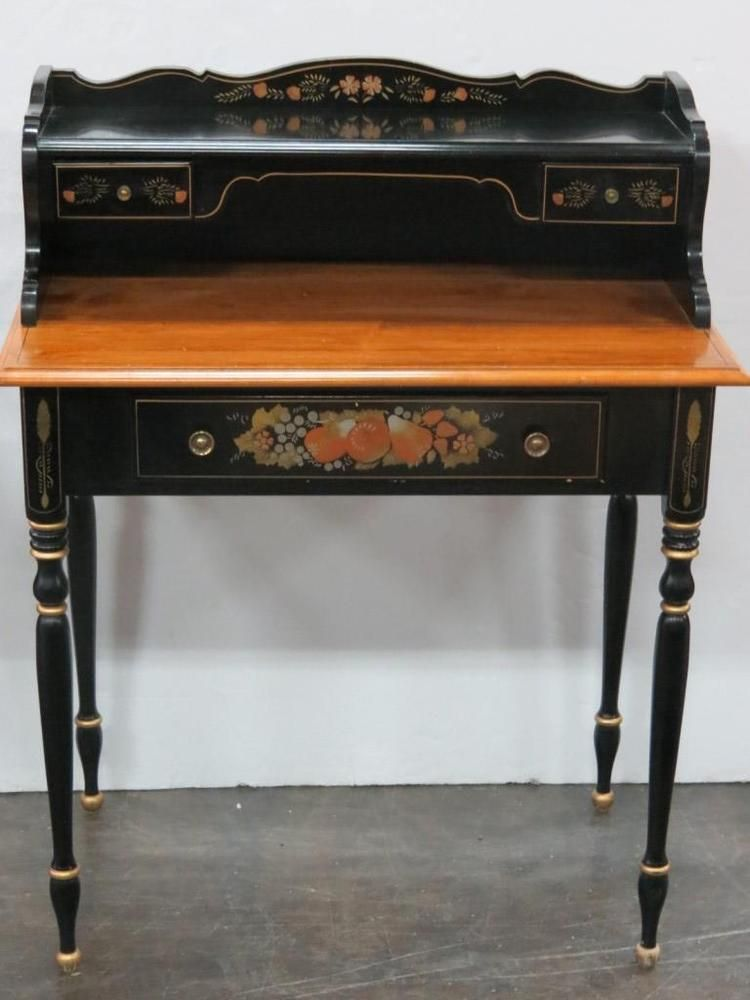 Ethan Allen Writing Desk Bonus Chair With Pickup Writing Desk Vintage Desk Desk Accessories Office