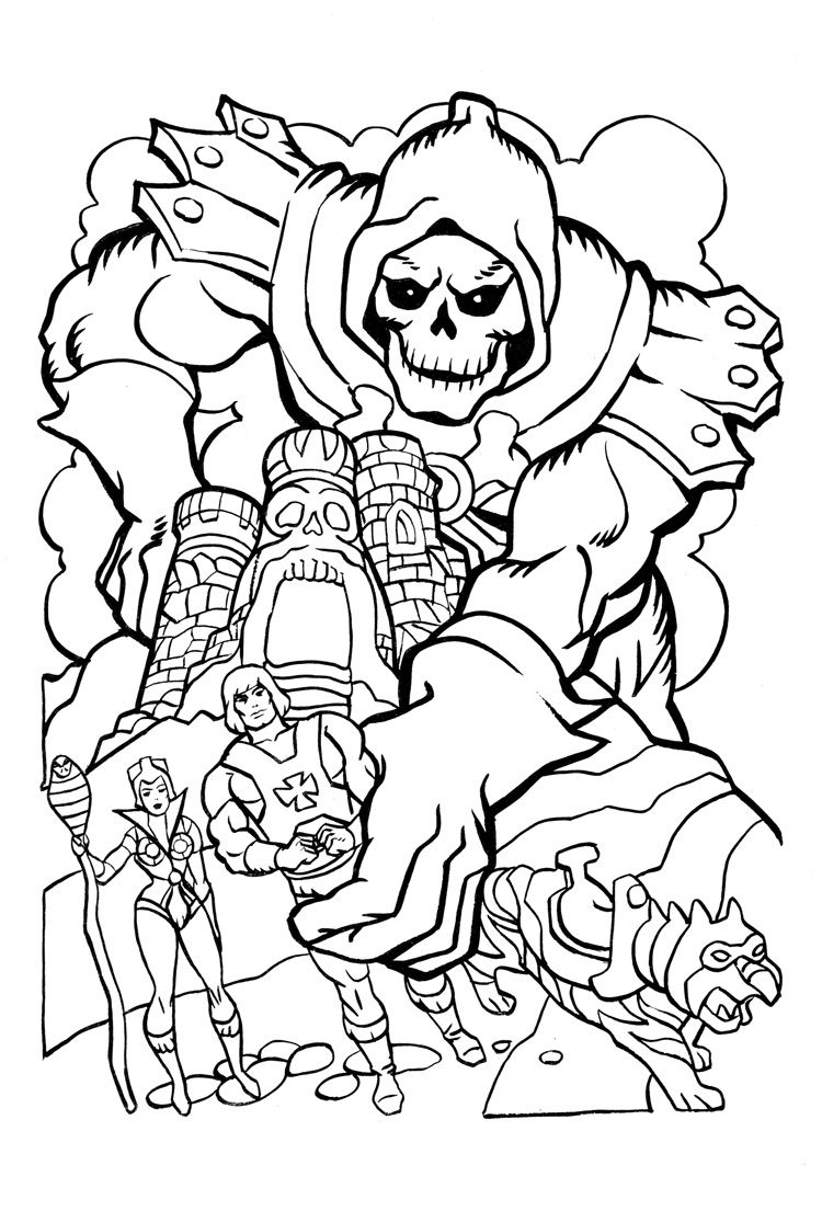 james eatock presents the he man and she ra blog coloring book 6 skeletor