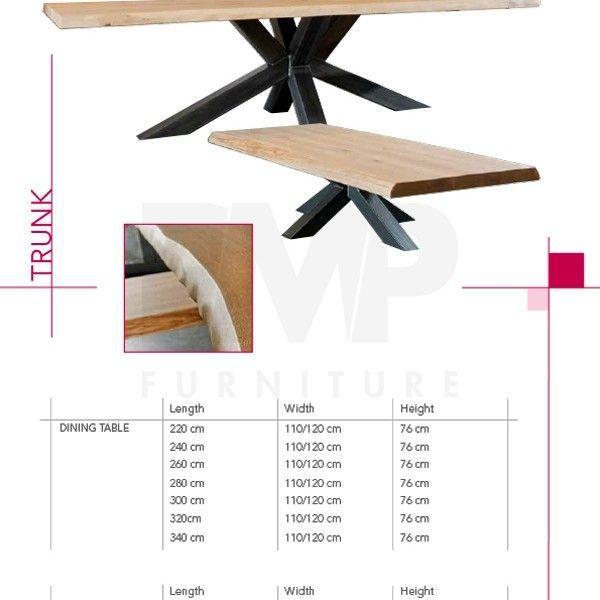 table salle a manger pied métal plateau bois chêne massif boisdeco - Hauteur Table Salle A Manger